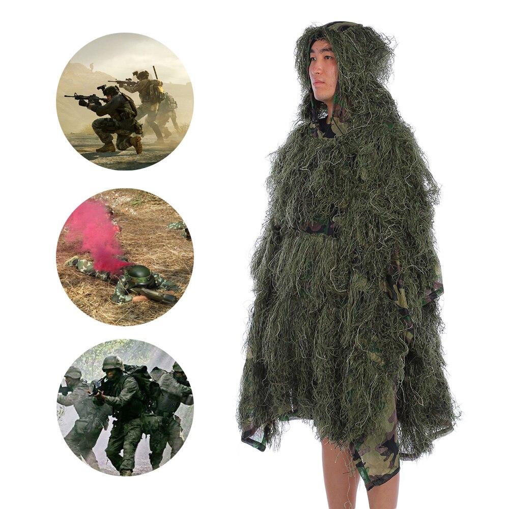 Tenue de Camouflage Outlife tenue de chasse Jungle tenue Ghillie costume désert forêt Sniper observation des oiseaux Poncho