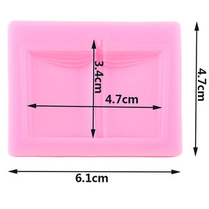 Image 2 - 3D School Book Silicone Molds DIY Baby Party Fondant Cake Decorating Tools Cupcake Cookie Baking Candy Chocolate Gumpaste Mould