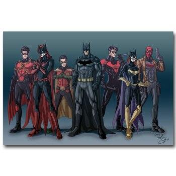 плакат гобелен шелковый друзья Бэтмена