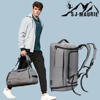 Hot Sale Terylene Men Luggage Bag Sport Fitness Bag Multifunction Gym Bags for Shoes Storage Outdoor Travel Anti Theft Backpack