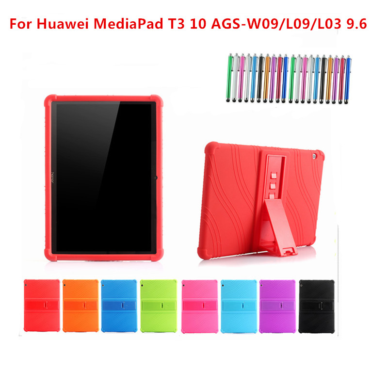 sports shoes 33237 096ce Shockproof Silicon Stand Back Cover Case For Huawei Mediapad T3 10  AGS-W09/L09/L03 9.6