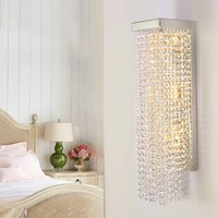 Modern crystal wall lamp living room light bedroom bedside wall sconce restaurant light clothing store hotel crystal wall lamp