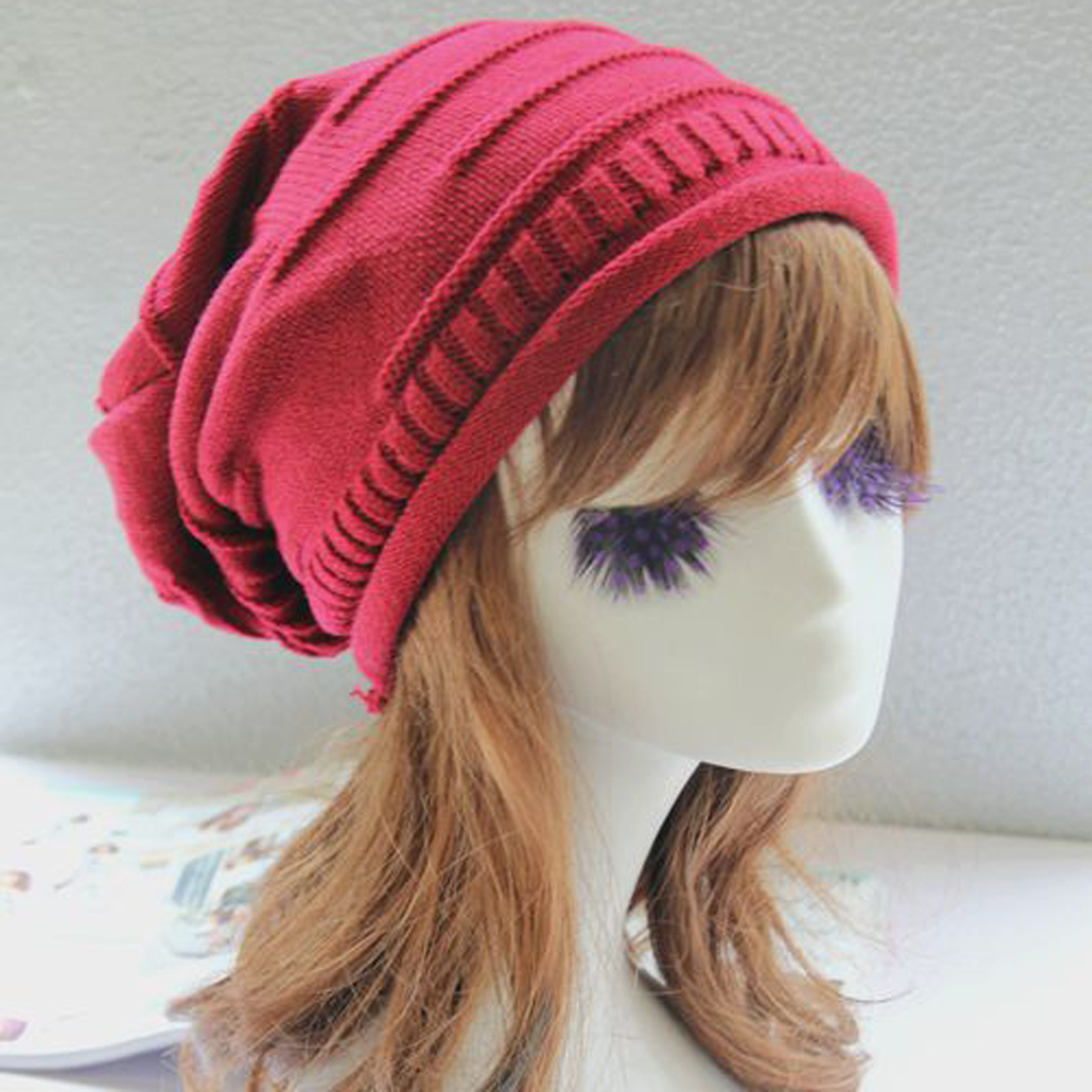 2017 Women Korean Warm Hip Hop Cap Knitting Acrylic Hat Winter Beanie Hats Comfortable 2017 special offer limited polyester adult beanie korean warm fold hip hop head cap casual knitting hat wool winter heap hats