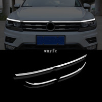 for 2016 2017 2018 2019 VW tiguan mk2 European version FRONT HOOD BONNET GRILL LIP MOLDING COVER TRIM BAR GARNISH MESH