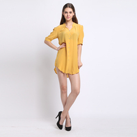 100% Silk Crepe Shirt Pure Natural Silk Comfortable Casual Shirt New Arrive Women Summer Shirts With Belt Modis Fashion Blouse
