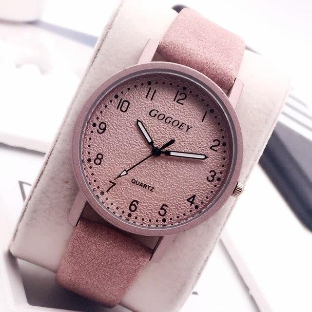 2018 New Gogoey Women's Watches Fashion Leather Wrist Women Ladies Female Watch