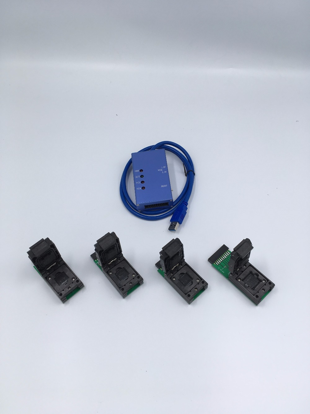 Universal test socket EMMC153 169 eMCP162 186 emcp221 529 support many different eMMC emcp chips android phone data recovery in Connectors from Lights Lighting