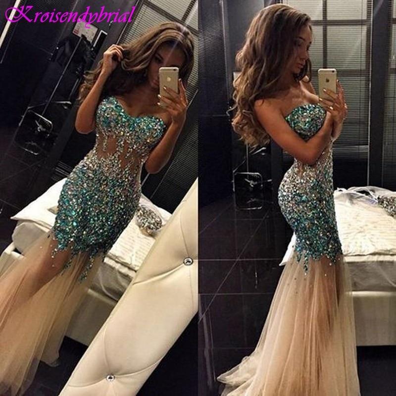 SQM064 Robe De Soiree longue Candy Color Sweetheart Mermaid Sheath   Evening     Dresses   Elegant Prom Formal   Dresses   2019