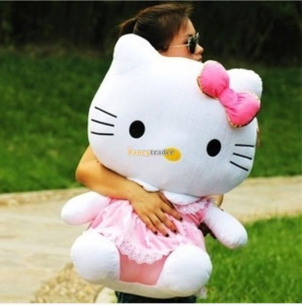 Fancytrader 28\'\' 70cm Lovely Giant Stuffed Soft Plush Big Giant Hello Kitty, 3 Colors, Free Shipping FT50759(1)