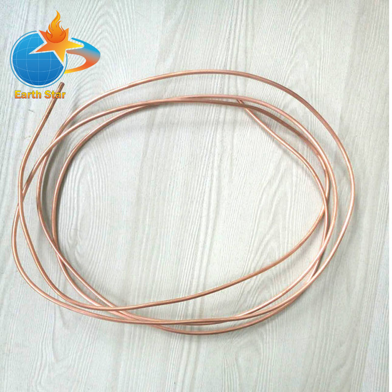 OD:4mm WT:0.6mm Copper Coil Soft Copper Tube Soft Condition Air Condition Refrigerator Copper Pipe Brass Copper About 1m Length купить
