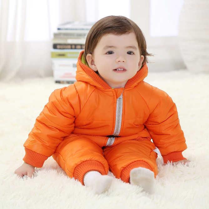 Зимний комбинезон; детская зимняя одежда; теплая верхняя одежда с хлопковой подкладкой; Детский комбинезон; детский зимний комбинезон; парки для новорожденных