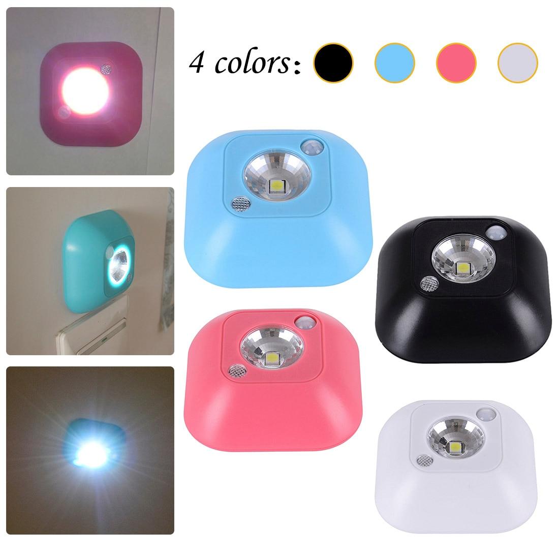 Lámpara de pie creativa para mesita de noche, luz nocturna inalámbrica, miniluces LED con Sensor de movimiento activado por infrarrojos con batería Nueva luz nocturna con Sensor de movimiento inteligente LED lámpara de noche a pilas WC lámpara de noche para habitación pasillo inodoro DA