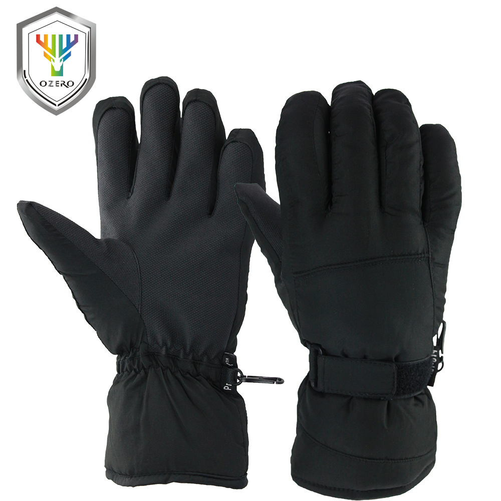 OZERO Winter Warm Ski Gloves 30 Degree Windproof Waterproof Unisex Work Security Protection Safety Workers Winter