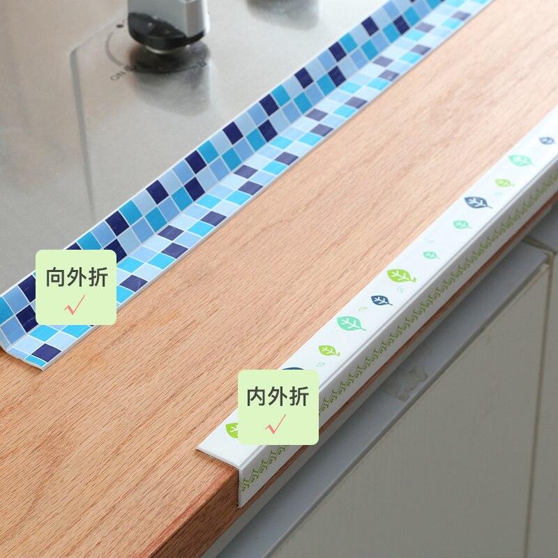 Us 9 66 30 Off Vanzlife Kitchen Sink Waterproof Stickers Bathroom Corner Seal Mildew Paste Toilet Self Adhesive Slit Stickers 3 8 320cm In Active