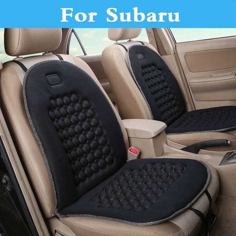 New Car <font><b>Seat</b></font> Covers 12V DC Cushion Pad Mat Round Bump Massage for Subaru Alcyone BRZ Dex Exiga <font><b>Forester</b></font> Impreza WRX STi Justy