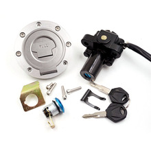 цена на Ignition Switch Fuel Gas Cap Seat Lock Key Set for Yamaha YZF R1 R6 FJR1300 FZ6
