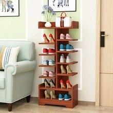 Шкаф для обуви Простой бытовой Гостиная деревянный шкаф сборки хранения многофункциональный спальня двери Таблица 5 видов цветов 5/7 слоев