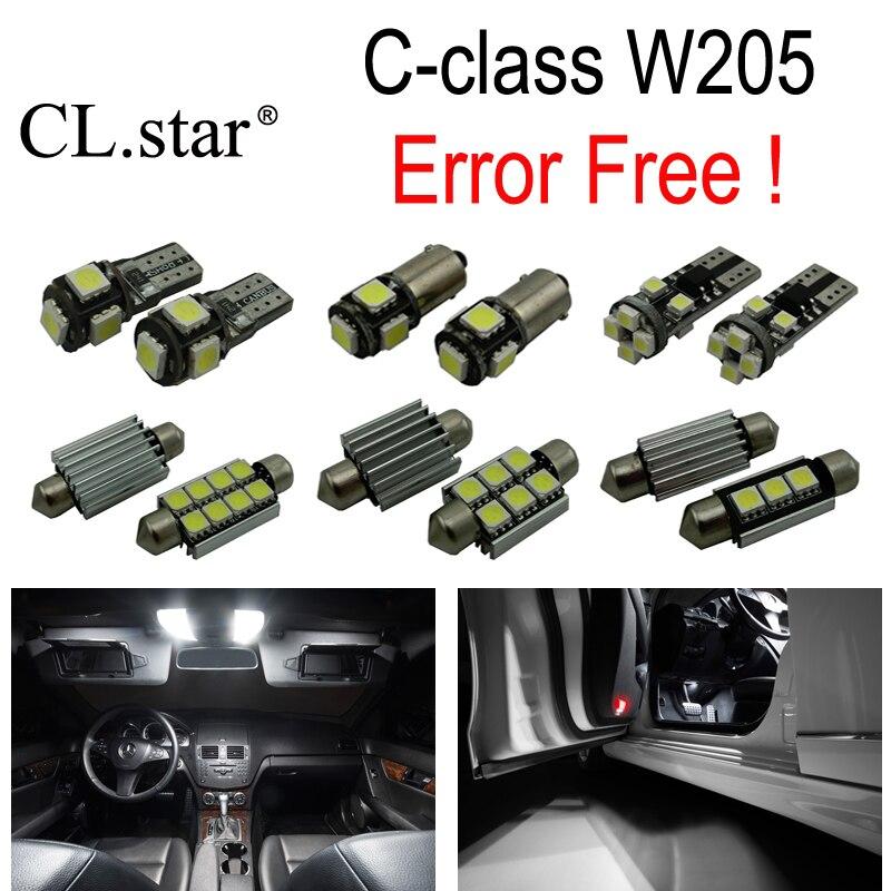 ФОТО 14pcs LED interior dome light Kit For Mercedes Benz C class W205 Sedan C160 C180 C200 C220 C250 C300 C350 C400 C450AMG C63 AMG