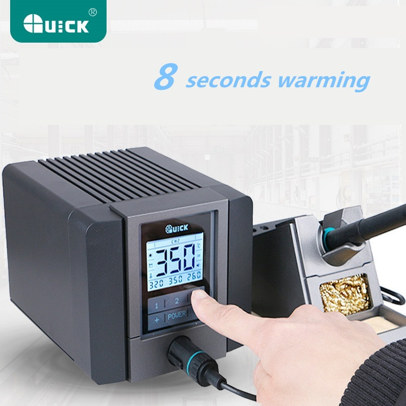 QUICK TS1200A intelligent touch lead-free soldering station electric iron 120W anti-static soldering iron soldering station 936a 70w lead free thermostat soldering station soldering tools anti static industrial electric iron welding station