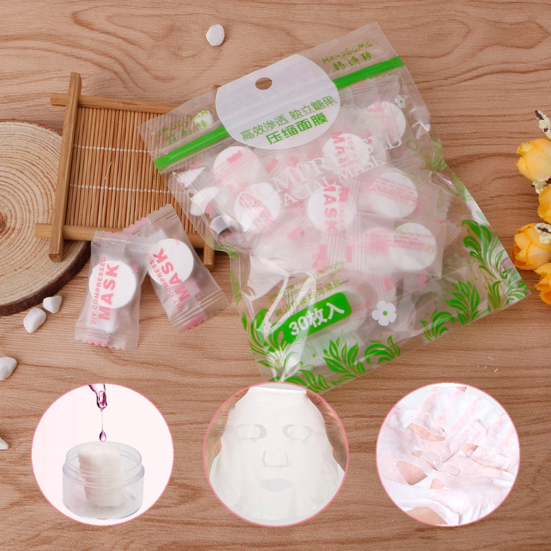 Disposable Face Mask Cotton Skin Care Compress Tablet Paper Facial Masks