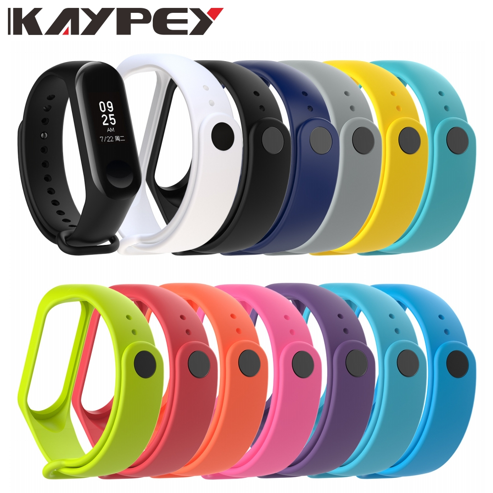 Soft Strap For Xiaomi Mi Band 3 4 Smart Band Accessories For Xiaomi Miband 3 4 Smart Wristband Strap For Xiaomi Mi Band 4 3(China)