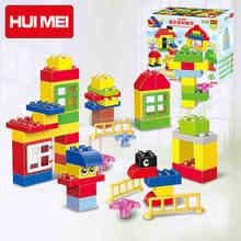 Original 100pcs Basic Classic Building Blocks Bricks Baby First Blocks Educational Kids Toys Compatible with Duploe