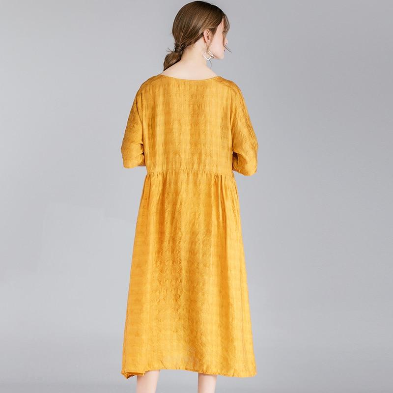 Robe yellow Black Noir Partie red Femme Printemps La Robes Femmes Solides Plus Courtes Dame Élégant Bohème 2019 Manches D'été À Jaune Taille 1WHFqwrn1C