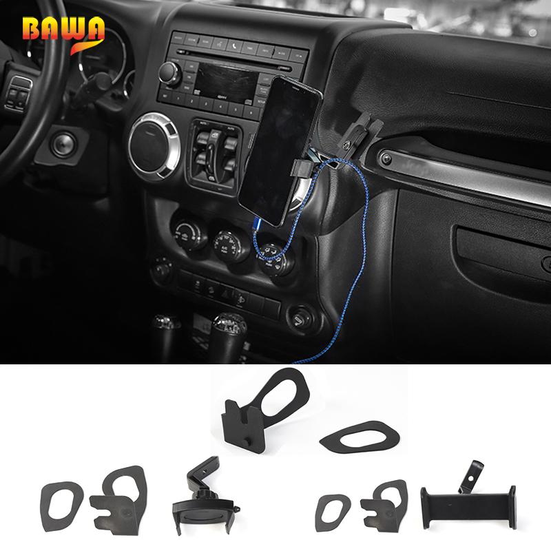 BAWA Interphone Holder for Jeep Wrangler 2007-2017 Metal Universal Car Bracket Mobile Phone Ipad Holder