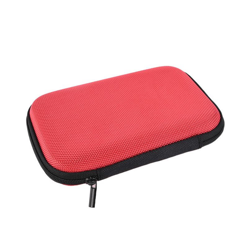 PU EVA Storage Carrying Hard Bag Box for USB Data Line Earphone Headphone 15 * 10 * 3 cm