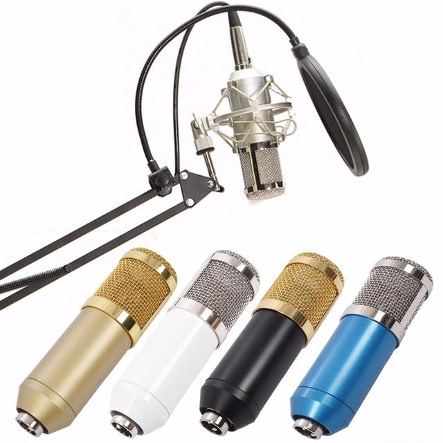 BM800 Condenser Microphone Kit Studio Microphone Vocal Recording KTV Karaoke Clip microfone bm Microphone Mic W/Stand Computer