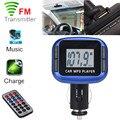 Simplestone Kit Car MP3 Reproductor Inalámbrico FM Del Modulador Del Transmisor USB MMC SD LCD Remoto 0216 envío de la gota