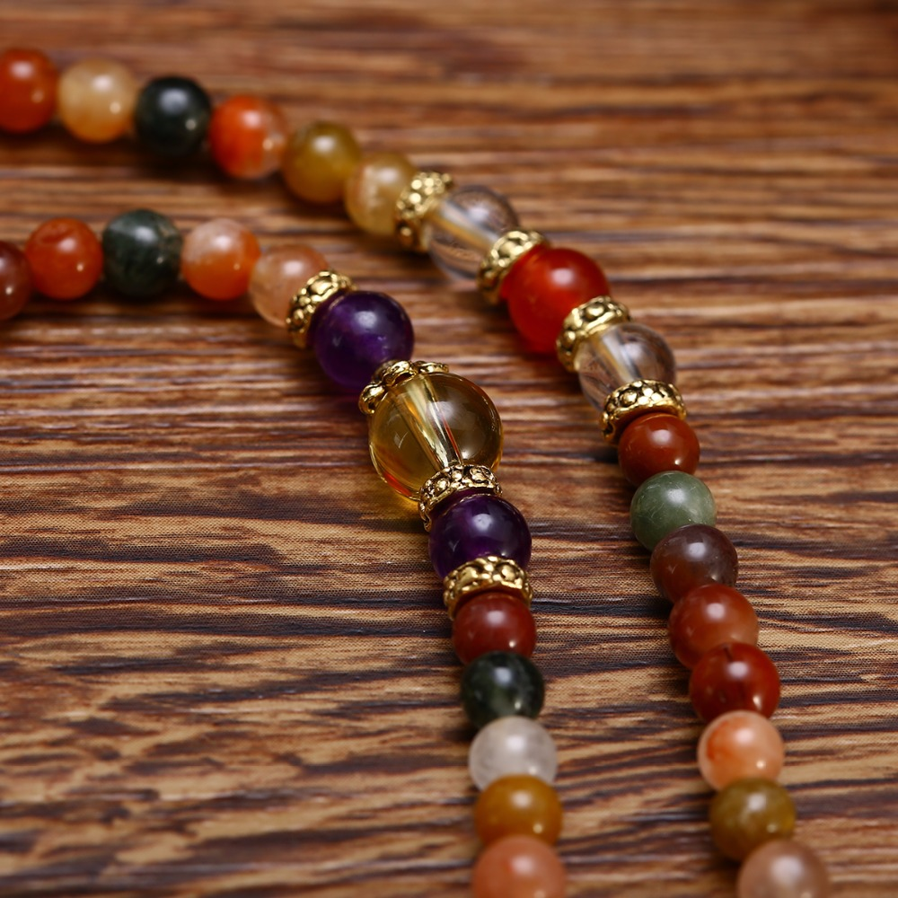 Varied Quartz Gemstone Mala 4