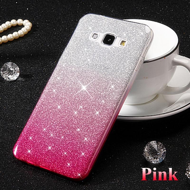 cf23793baa4 Gradient Glitter Soft Case for Samsung galaxy S5 S7 S6 edge S9 S8 Plus Note  4 5 8
