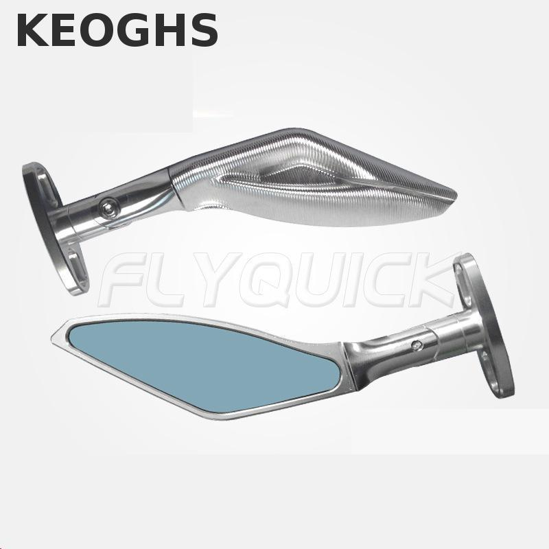 ФОТО KEOGHS Motorcycle Rear Mirror With Adapter All Cnc Aluminum Universal For All Motorbike Honda Yamaha Kawasaki Ducati Suzuki