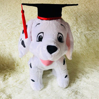 1pieces/lot 30cm plush Article 101 the loyal dog doll cartoon dalmatians Children's toys doctoral cap Graduated from the doll