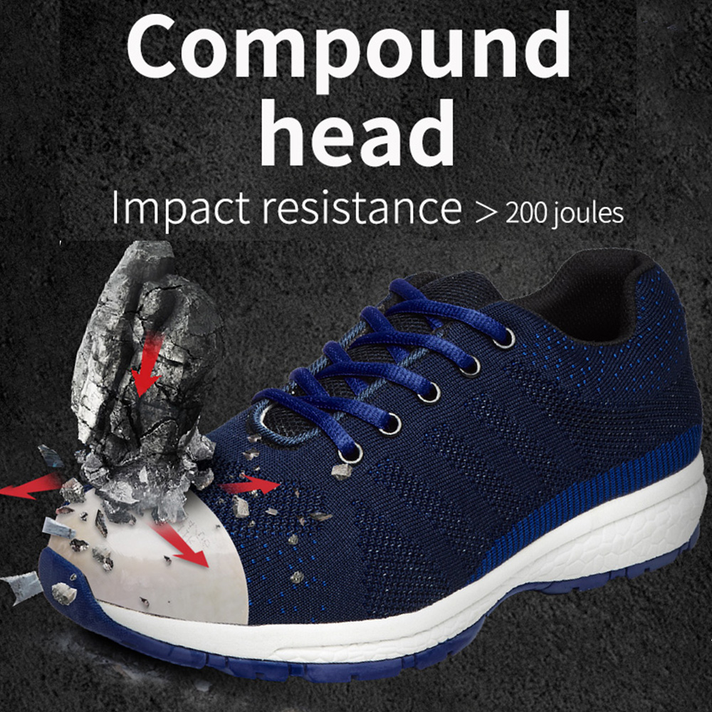 Clearance sale men's composite head safety shoes, non-slip, anti-smashing men's boots, lightweight anti-static work shoes.
