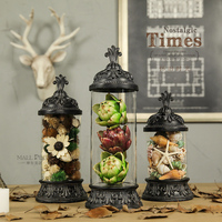 Top Grade Vintage Bell Jar Glass Shade Decorations Personality Ornaments Creative Window Display Props Modern Home