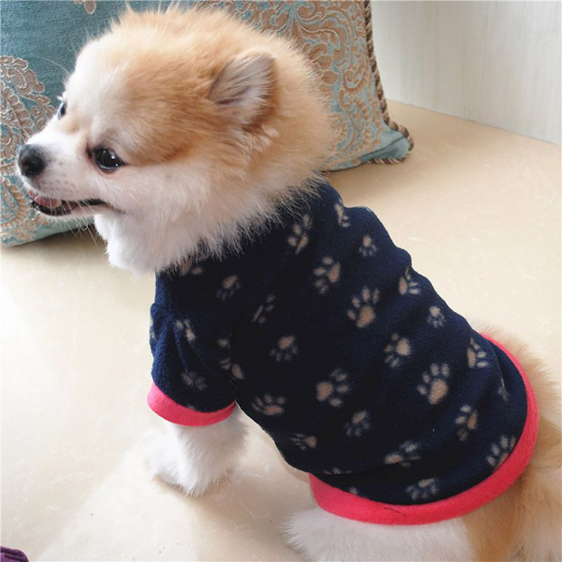 Dog Cats Print Clothes for Small Dogs Warm Winter Pet Dog Clothing Coat Shirt Pet Christmas Costume Soft Chihuahua Clothes thumbnail