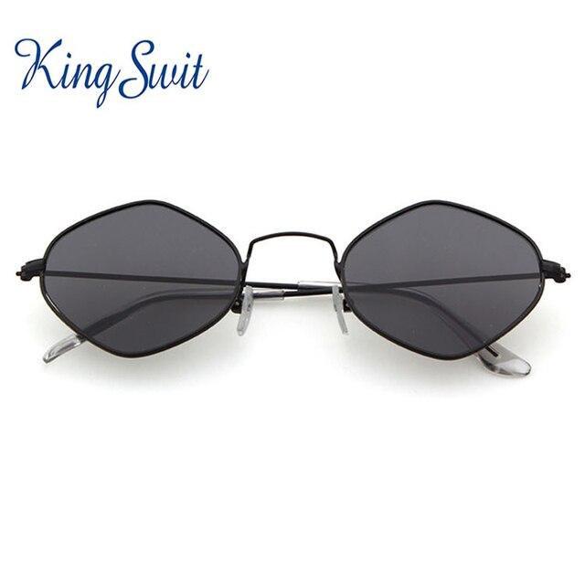 af4259f5254 KingSwit 2018 New Polygon Sunglasses Women Men Brand Designer Vintage  Sunglasses Clear Sun Glasses UV400 S043