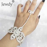 Declaración Diamante de imitación anillo de dedo Pulseras para mujeres Pulseras Mujer boda cristal brazalete con diseño de lazo Charm Femme Jewelry 2019