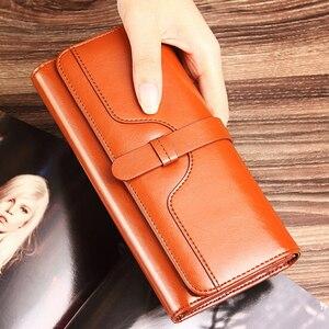 Image 5 - Prawdziwej skóry kobiet portfel luksusowe sprzęgła portmonetka posiadaczy Worki na pieniądze projektant damskie portfele portfel markowy portfolio