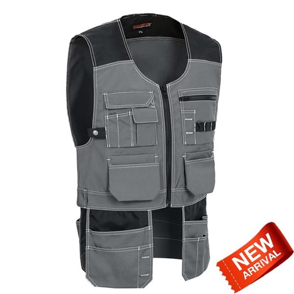 Bauskydd Bauskydd Mens Grey tool vest working vest utility tool vest workwear men free shipping