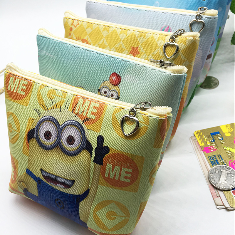 Minions Drawstring Bag Wallet /& Pen gift set for boys girls school supplies