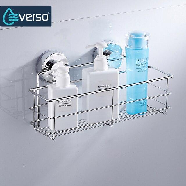 Merveilleux Stainless Steel Shelves Bathroom Shower Shelf Dual Sucker Bathroom Shelf  Wall Mount Shelf Shampoo Holder Basket
