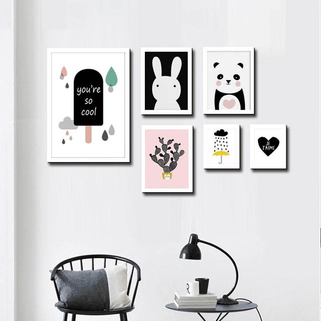 Kids Room Wall Art Canvas Painting Cuadros Decoracion Nordic Poster ...