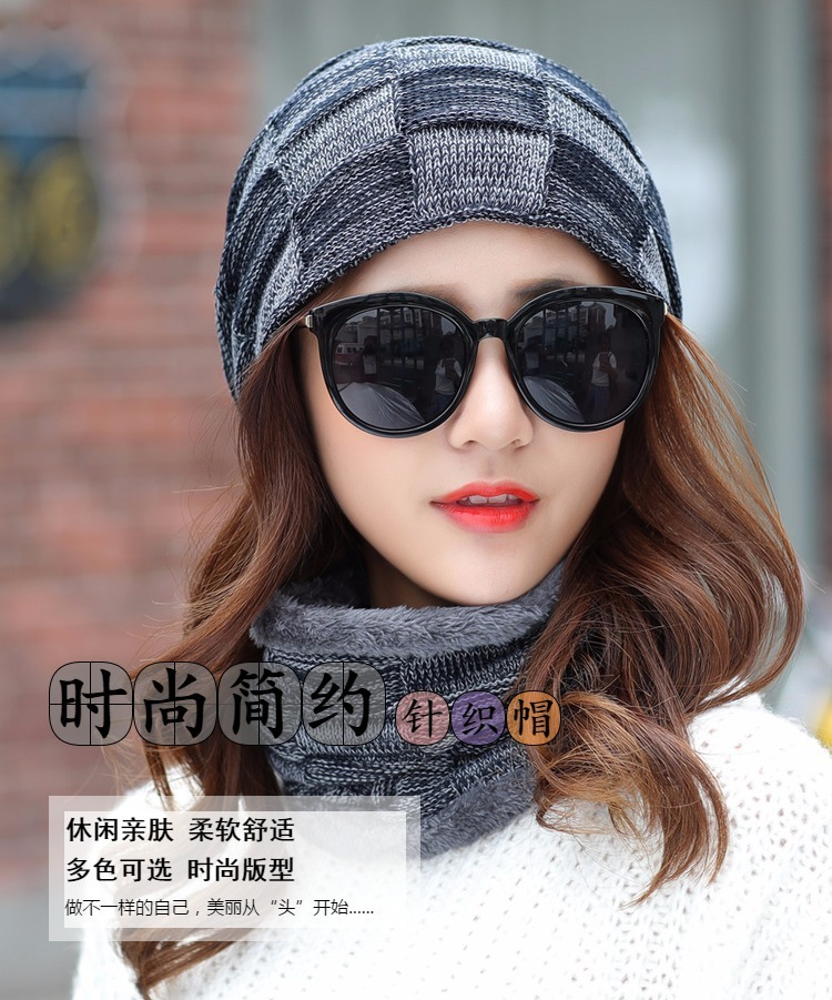 54f568930 Balaclava Women S Knitted Hat Scarf Caps Neck Warmer Winter Hats For ...