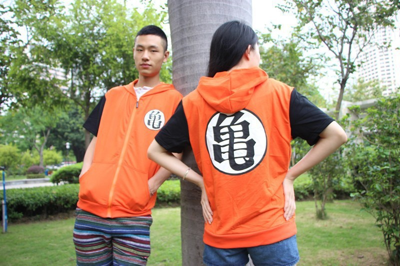 Hot Sale JP Anime Dragon Ball Short Sleeve Hoodies Jacket For Unisex Cosplay Costumes