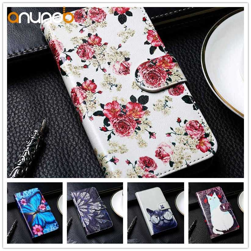 Stand Flip Leather Case For Meizu Pro 7 6 6s Pro7 Plus Pro6s U10 U20 U680H MX6 Pro Wallet Case DIY PU Painted Cover