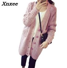 2018 Female Cardigan Slim Knitted Basic Sweater WomenS Vintage Cardigans Sweaters Autumn Pull Femme Xnxee