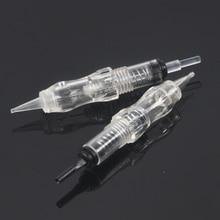 10pcs איפור קבוע בורג מחסנית 1RL מחטי שחור פנינה PMU מכונה